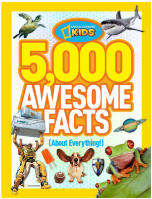 This is an image of kid's 5000 awesome facts book