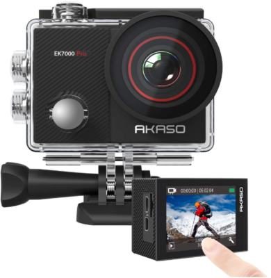This is an image of Teen's akaso action camera in black color
