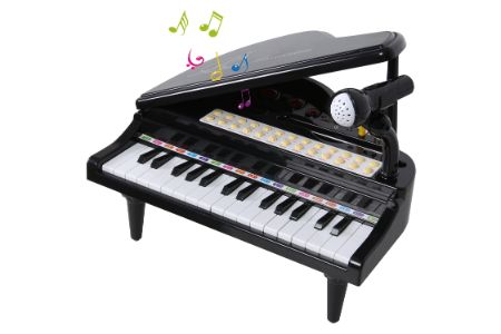 This is the image of ANTAPRCIS Piano Keyboard with microphone