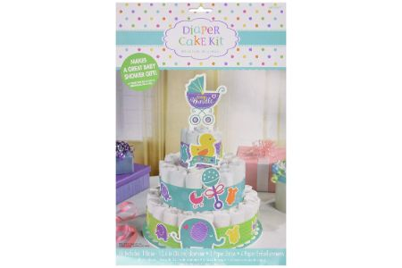 This is the image of amscan's diaper cake kit
