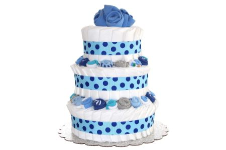 This is the image of Baby Boy Diaper Cake
