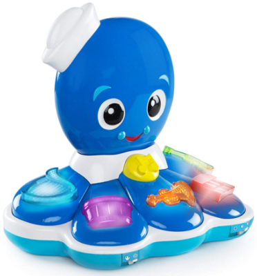 This is an image of kid's octopus musical toy in blue color
