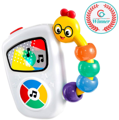This is an image of kid's musical toy in white color