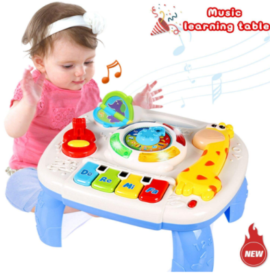 This is an image of kid's Baby musical learning tablet in colorful colors