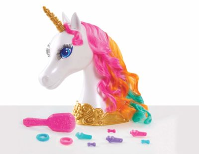 This is an image of a Dreamtopia styling unicorn head for girls.