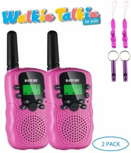 two pink walkie talkies