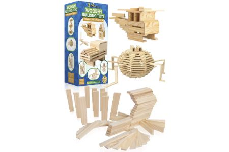 This is the image of STEM Wooden Building Toys