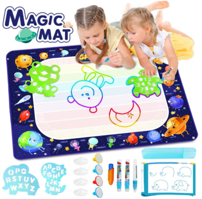 This is an image of toddler's doodle mat pack, blue color