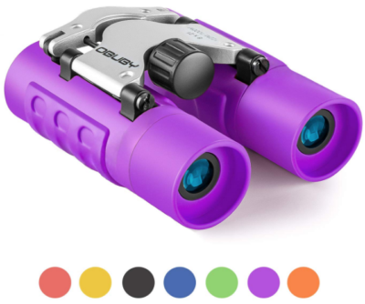 This is an image of kid's binoculars waterproof in purple color