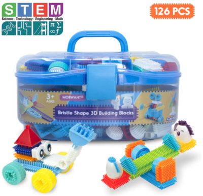 This is an image of girl's STEM Building blocks in colorful colors