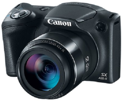 This is an image of teen's canon SX420 in black color