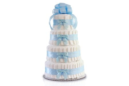 This is the image of classic pastel diaper cake