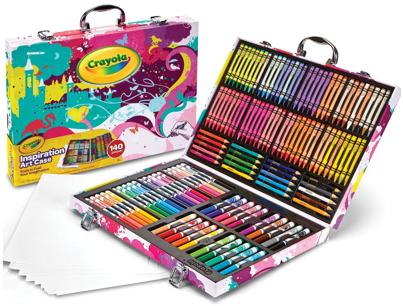 This is an image of kid's Art case coloring set