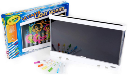 This is an image of kid's Ultimate light board drawing tablet in black and white color