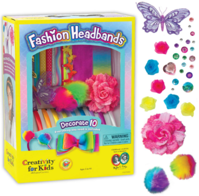 This is an image of girl's Headbands craft