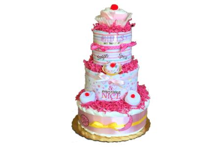 This is the image of Cupcake Themed DiaperCake