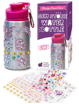 This is an image of kid's decorate your own water bottles kit
