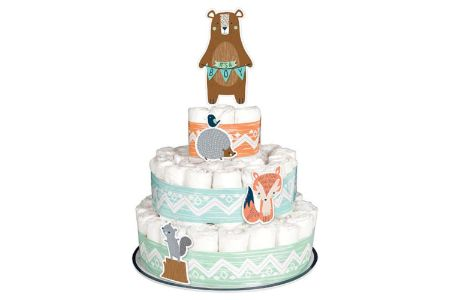 This is the image of Decorations Diaper Cake