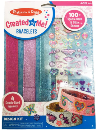 This is an image of girl's DIY bracelets by Melissa and doug