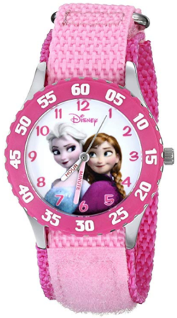 This is an image of kid's Disney frozen watch in pink color