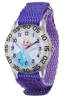 This is an image of kid's disney watch in purple color