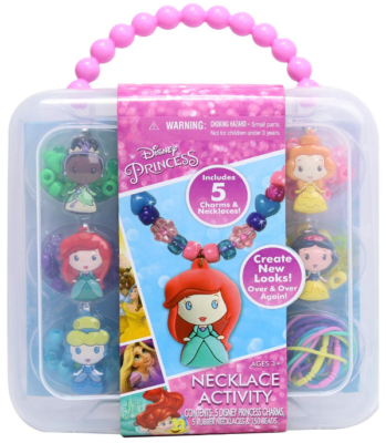 This is an image of kid's necklace activity by disney
