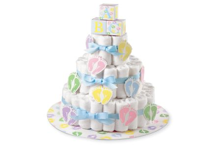 This is the image of hilton diaper cake for boys