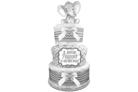 This is the image of elephant diaper cake for boys