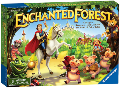 This is an image of girl's enchanted forest board game
