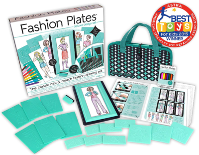 This is an image of girl's Plates deluxe kit in blue color