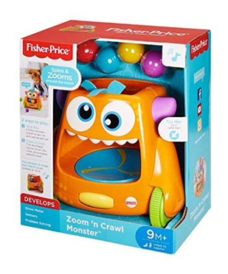 This is an image of a crawl and chase monster toy for toddlers by Fisher Price.