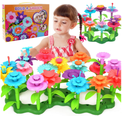 This is an image of girl's farden building toy in colorful colors