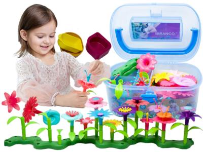 This is an image of kid's flower garden building toys