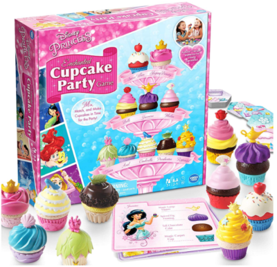 This is an image of girl's cupcake party game by Disney