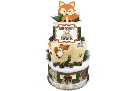 This is the image of Fox Diaper Cake
