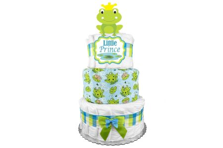 This is the image of Frog Diaper Cake