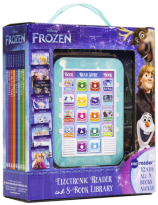 This is an image of kid's frozen electronic reader in blue color