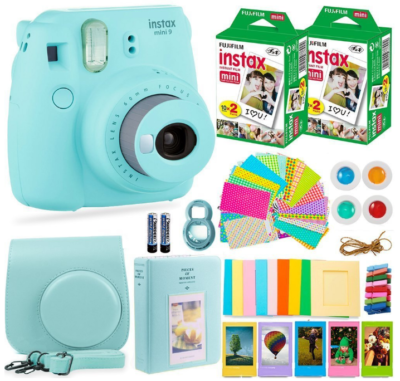 This is an image of teen's instant mini camera pack in blue color