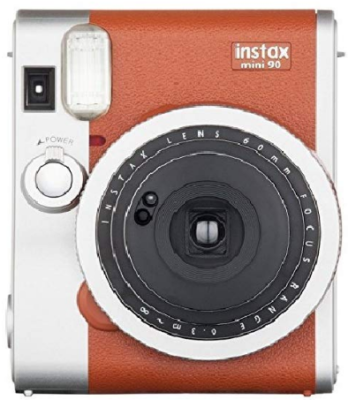 This is an image of Teen's fujifilm instant mini camera in silver and brown color