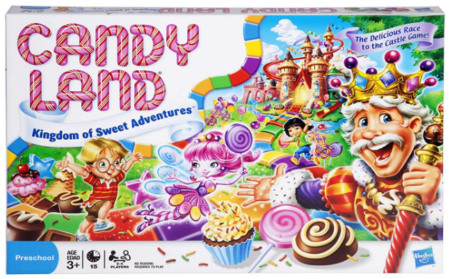 This is an image of kid's Gaming candy land board game