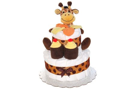 This is the image of Giraffe Diaper Cake for Boys