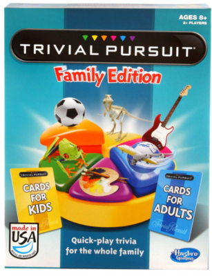 This is an image of kid's trivial pursuit games