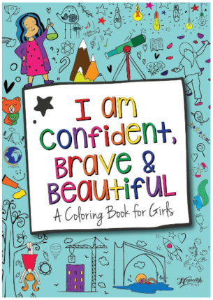 This is an image of girl's I am Confident brave beautiful book