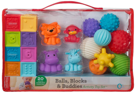 This is an image of babie's balls blocks buddies activity in colorful colors