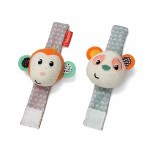 two infantino wrist rattles