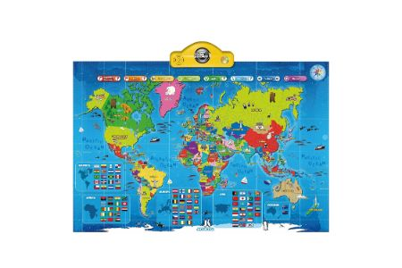 This is the image of Interactive World Map for Kids