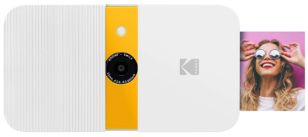 This is an image of teen's instant digital camera in white color