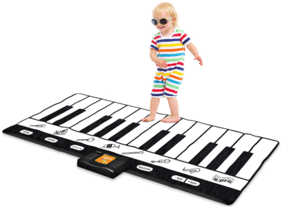 This is an image of kid's keyboard playmat 71 in white and black colors