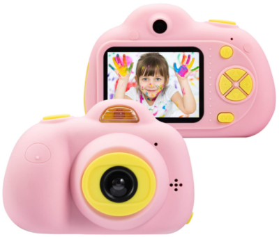 This is an image of kid's camera gift in pink color