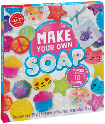 This is an image of kid's Make your own soap craft kit in colorful colors